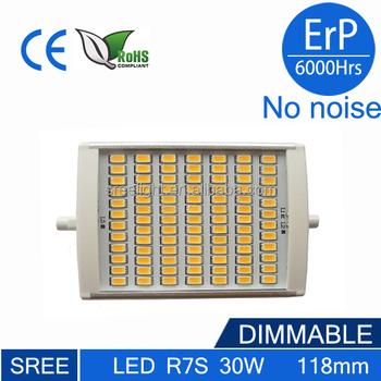 r7s led 118mm 4000 lumen r7s led lamp 4000lm 30w 4000k