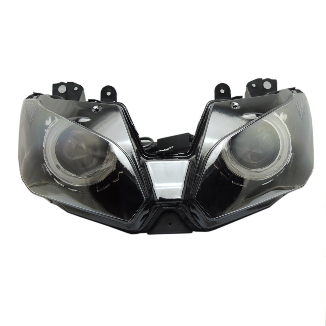 Ninja 300 Angel Eye Headlight Assembly HID Projector Custom for Kawasaki Ninja 300 ZX-6R 2013 2014 2015 2016