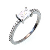 KENTURAY Hot Sell Stunning 925 Sterling Silver Ring Fashion CZ Diamond Forever Love Eternity Ring