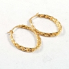Hot sale Custom stainless steel earring gold fashion hoop earrings