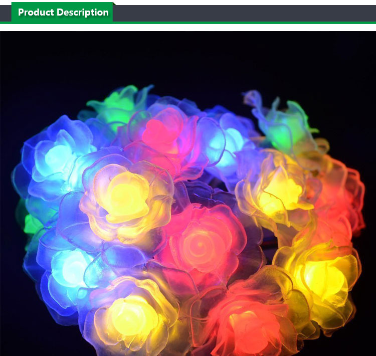 Solar String Light,Waterproof Rose Solar Fairy String Lights for Christmas, Garden, Patio, Wedding, Party and Holiday Decoration