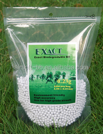 Exact Bio- 0.23g 6mm airsoft bbs paint ball guns metal