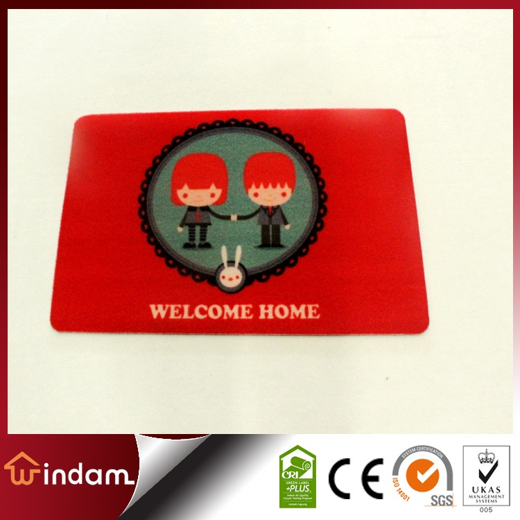 Customize WELCOME HOME decorative red door mat