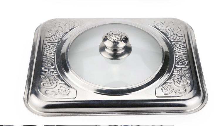 banquet rectangle stainless steel Indonesia buffet chafing dish stainless steel hot pot for food warm