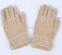 Popular custom design smartphone winter knitted Magic touch screen gloves