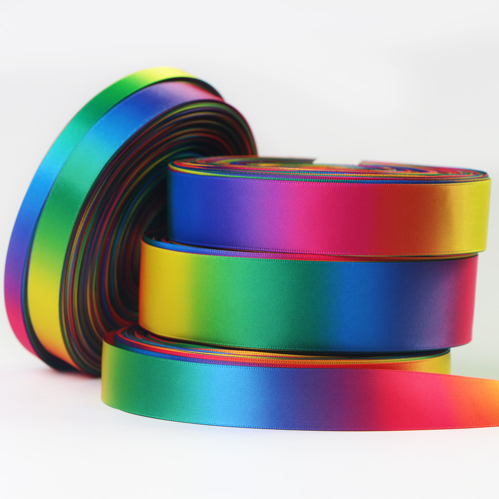 Custom Satin Ribbon Printed Logo Ribbon Cutting Service