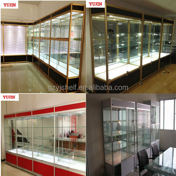 Wooden Glass Model Car Display Cabinets Glass Mirrorused Glass