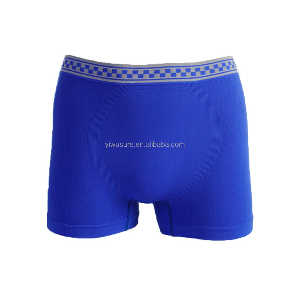 Cheap OEM Men's Seamless Nylon Jacquard Underwear Brief Boxers In Bulk