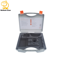 2017 new design plastic storage box ,small storage PP case ,tool carrying case with handle and foam