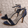2018 Navy Blue Evening Shoes Sandals