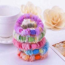 5 Pcs Acessórios Para o Cabelo elástico gaze Embrulho Headhands elastic band elastico de cabelo Enfeites de Cabelo Para Mulheres E Meninas