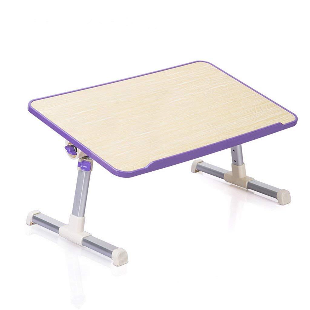 LQQGXL Storage and organization Laptop desk dormitory learning Lazy hot folding aluminum alloy bracket (Color : Purple, Size : Ordinary section)