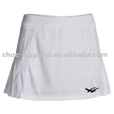 Customized white color tennis skirts for competition 2013-2014
