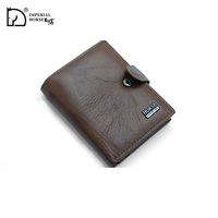 Imperial Horse Men Leather Classic Hasp and Button Wallet #010A 2019-1-5