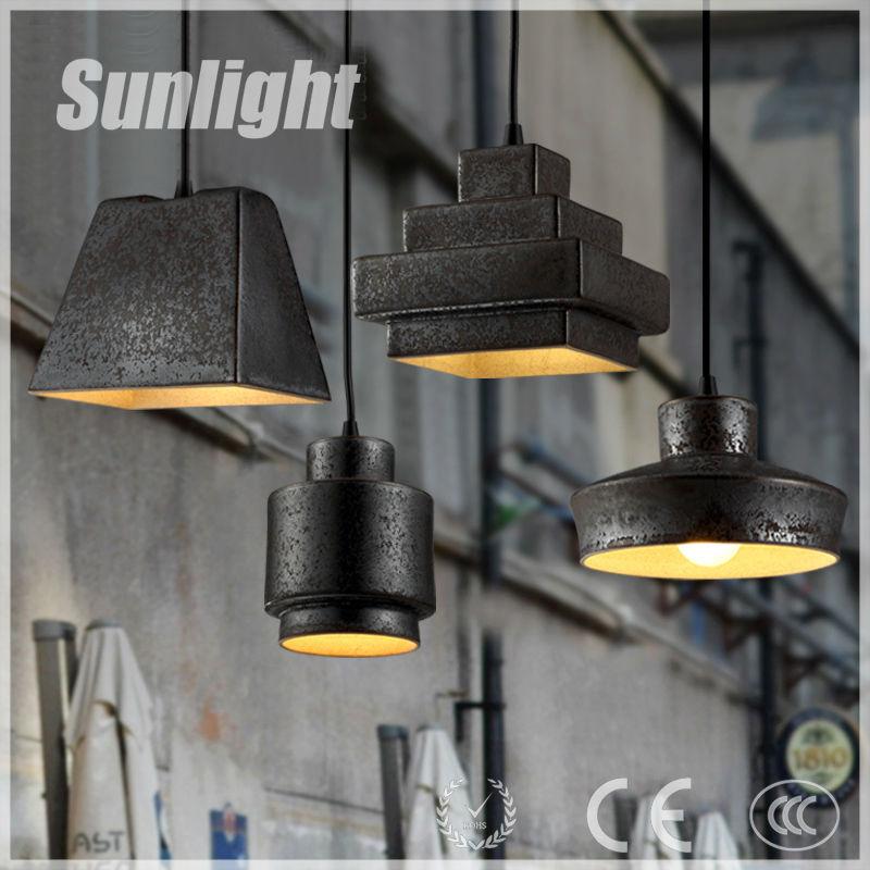 Loft restaurante retro óxido industrial country pub iluminación ...