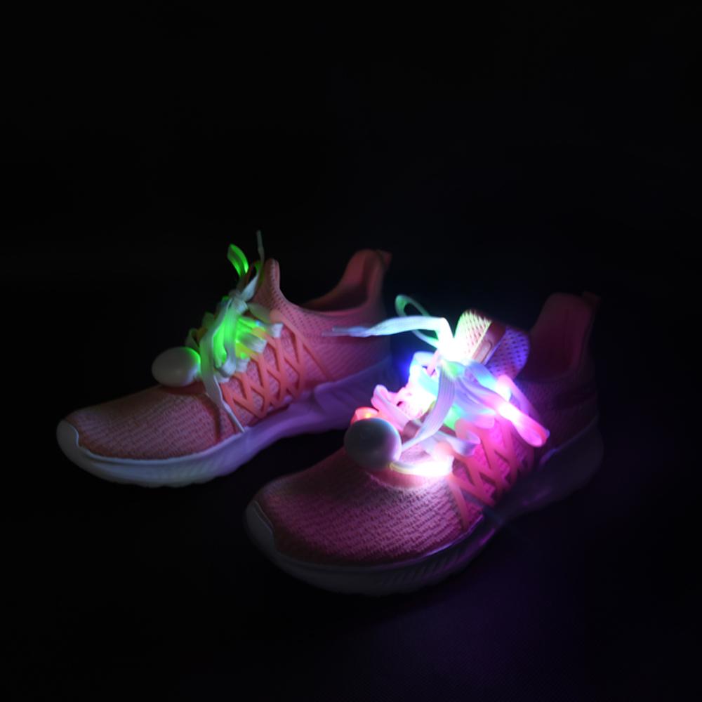 도매 깜박이 끈 빛나는 다채로운 빛 led 신발 끈