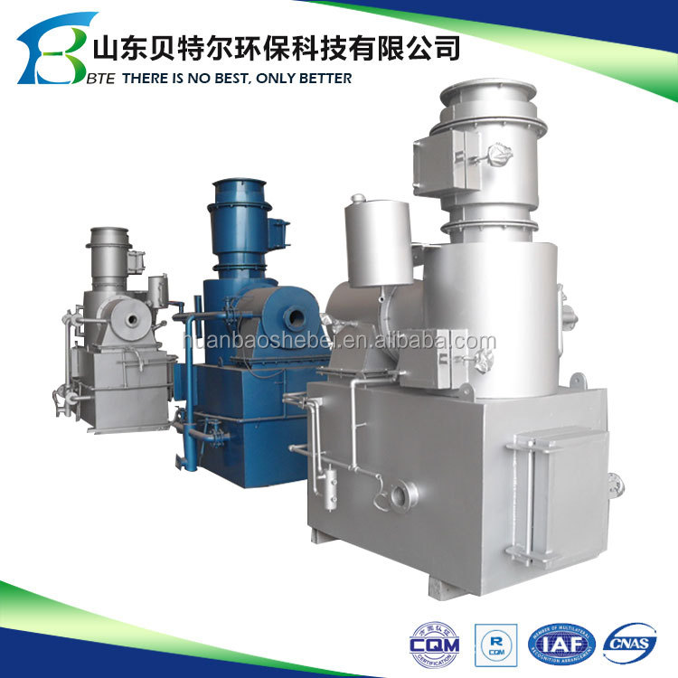 Industrial factory waste incinerator, solid waste management unit