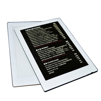 Factory single led menu restaurant with A4 size