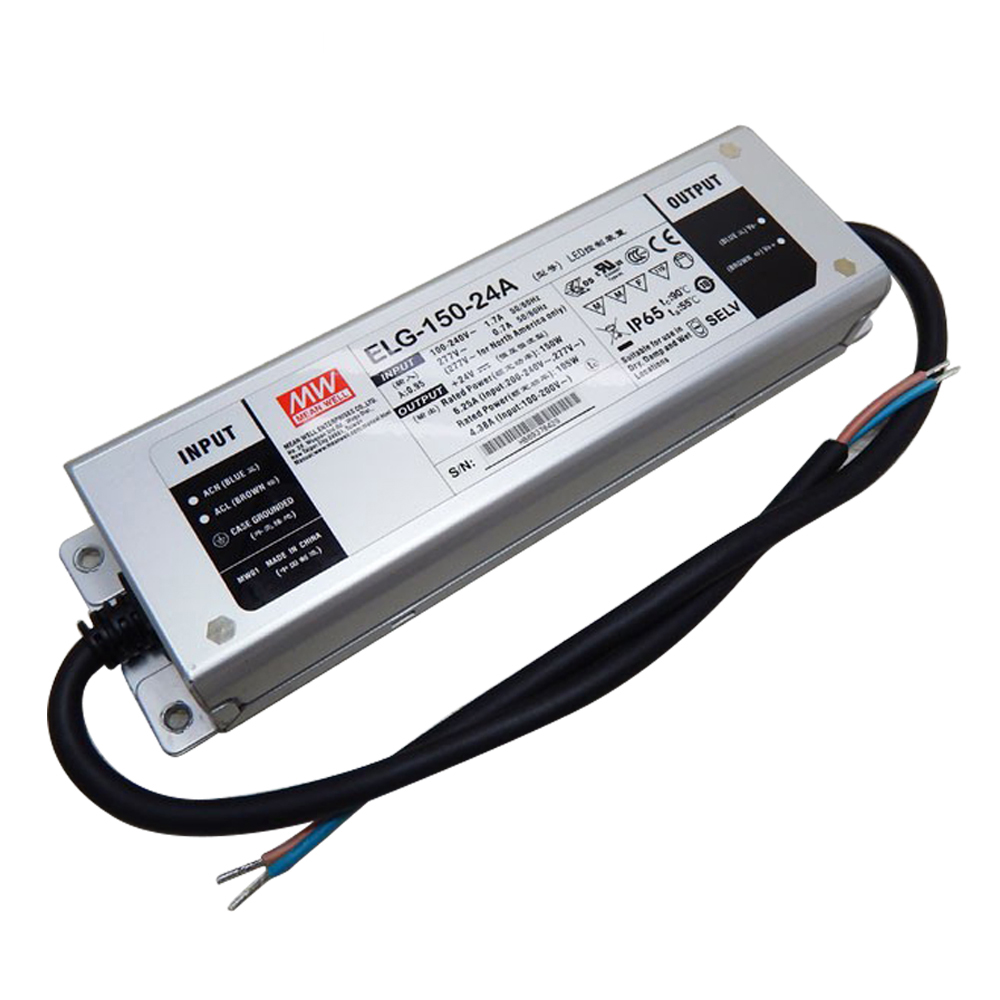 Mean Well 110v Ac To 24v Dc Power Supply Elg-150-24a Ip65 Power Supply -  Buy 24v Power Supply,110v Ac To 24v Dc Power Supply,Elg-150-24a Product on