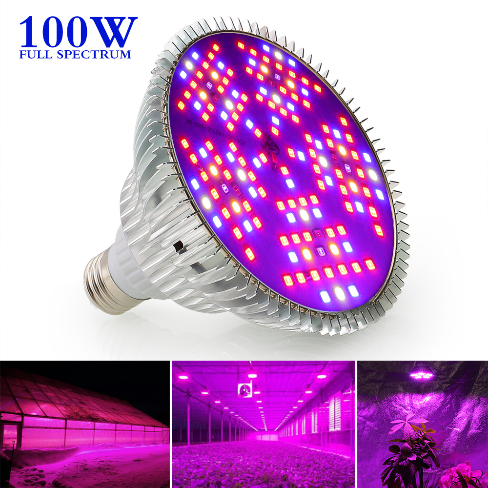 SINJIA Newest 100W Dimmable Full Spectrum LED Plant Grow Light ZW0210