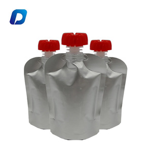 High quality customized doypack foil plastic spout pouch for juice