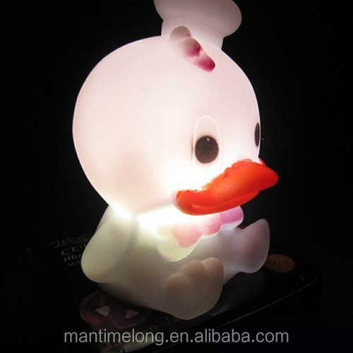 Colors Changing Creative Duck,Cat And Butterfly Led Night Light ...