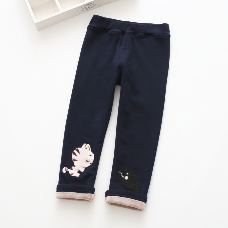 S52165A   Autumn Cotton Cute Skinny Pants Kid Leggings lovely Print
