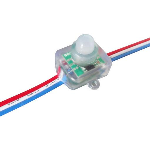12mm Full Color 5V 12V RGB Pixel LED Module string Light IP68 Square