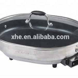 Good Quality Profession Easy Use Multifunction Stainless Steel Electric Skillet