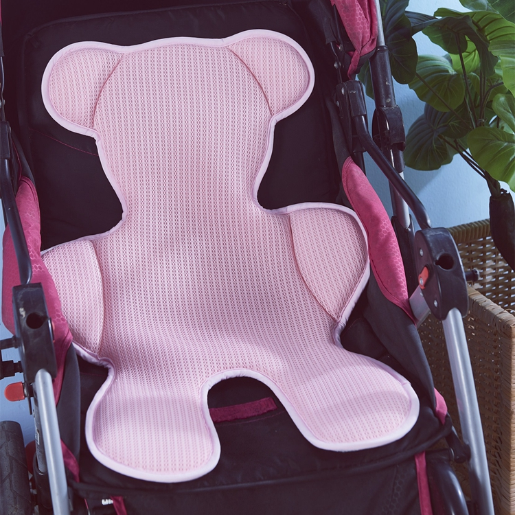 breathable baby stroller cushion with 3D spacer mesh fabric, baby stroller pad with 3D spacer mesh fabric