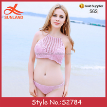 S2784 new open hot sexyi photo image crochet bikini swimwear