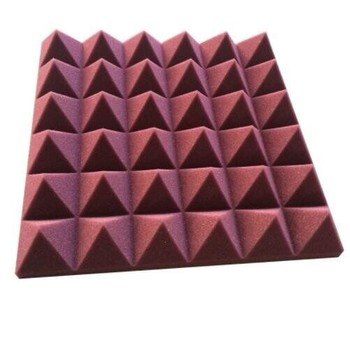 High-Density Colorful Pyramid Shape Sound Proof Acoustic Polyurethane Foam Panel For Recording Studio