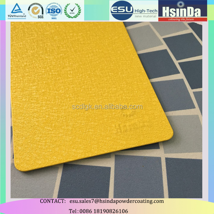 Ral color epoxy polyester coton texture water/elephant wrinkle texture powder coating paint