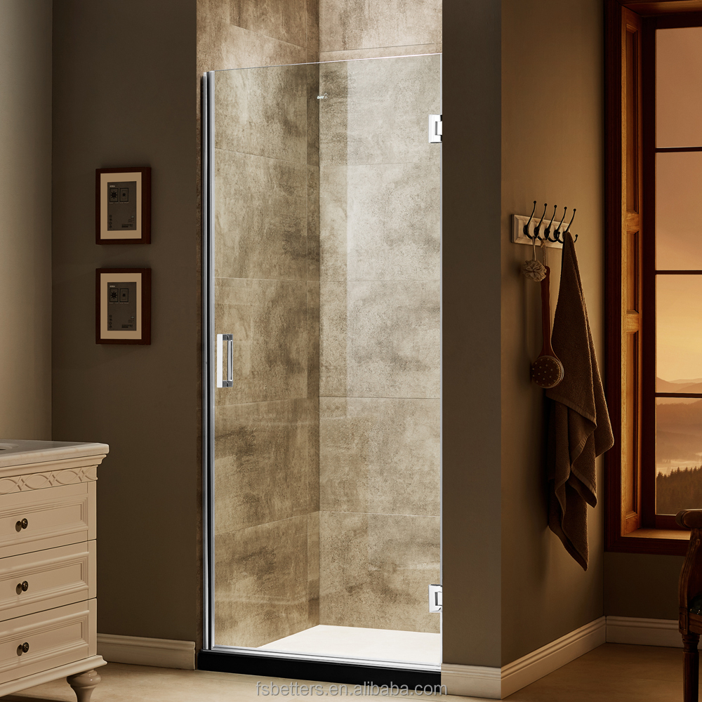 Alcove Single Door Hinges Frameless Shower Door
