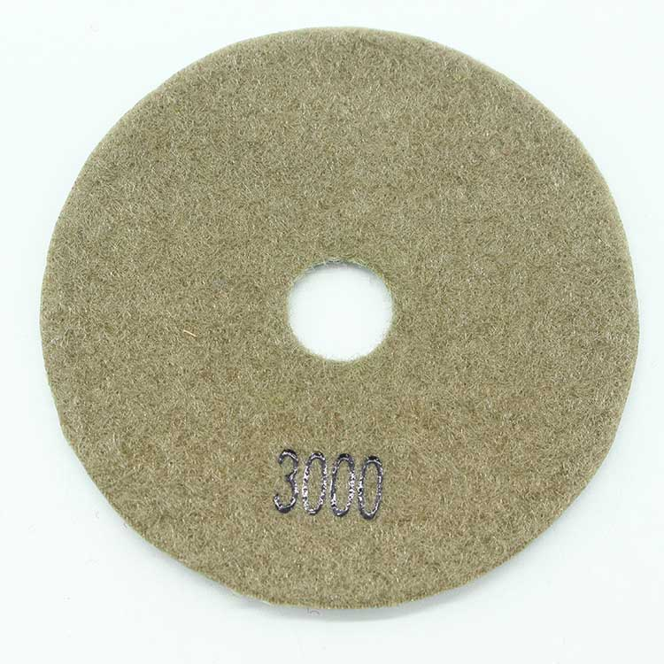 "4"" 3000# Diamond Polishing Pads for Wet/Dry Granite Marble Concrete Stone"