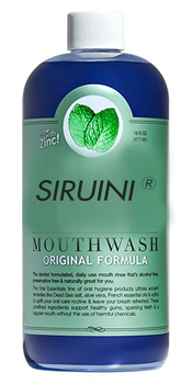 SIRUINI Mouthwash for Fresher Breath, Dentist Formulated, Alcohol Free, Sugar Free with NO Dyes, Preservatives or BPA. N