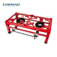 Industrial gas stove/Double burner gas cooker