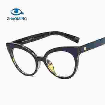 d3f5d03d72 Eyewear Frame Women Cat Eye Eyeglass Transparent Clear Prescription Glasses  Frames Optical Retro Spectacles Eyewear Frame