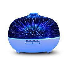 UL CE ETL Certificates Bubble/Snowflake/Firework Design Aromatherapy Humidifiers 3D Glass Aroma Oil Diffuser