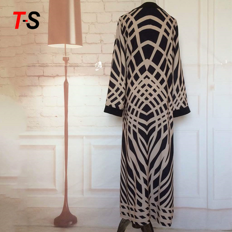 Fashion Abaya Muslim Women Cardigan Islamic Long Dress