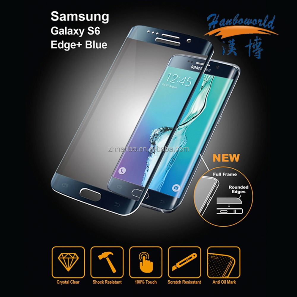 OEM imprint Logo 3D curved termperd glass for Samsung Galaxy S6 screen protector
