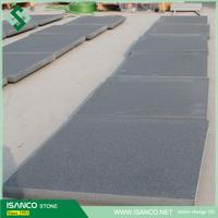 Flamed China black granite slabs and tiles absolute black granite prices