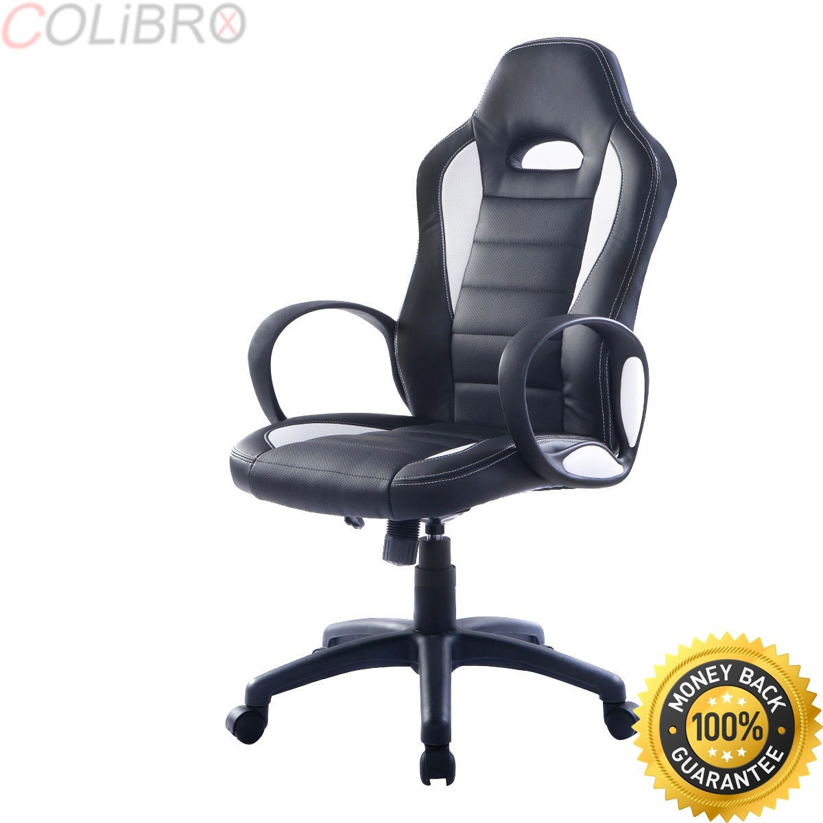 COLIBROX--New PU Leather High Back Executive Race Car Style Bucket Seat Office Desk Chair. high back race car style bucket seat office desk chair gaming chair. amazon bucket seat office chair.