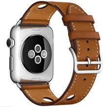 Роскошный чехол из натуральной кожи петлевой для наручных часов Apple watch, ремешок 42 мм, 38 мм, версия для наручных часов Iwatch, ремешок серии 3/2/1 сс...(Китай)
