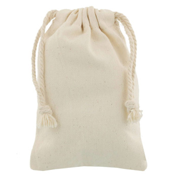 Eco Friendly Small Canvas Drawstring Bag