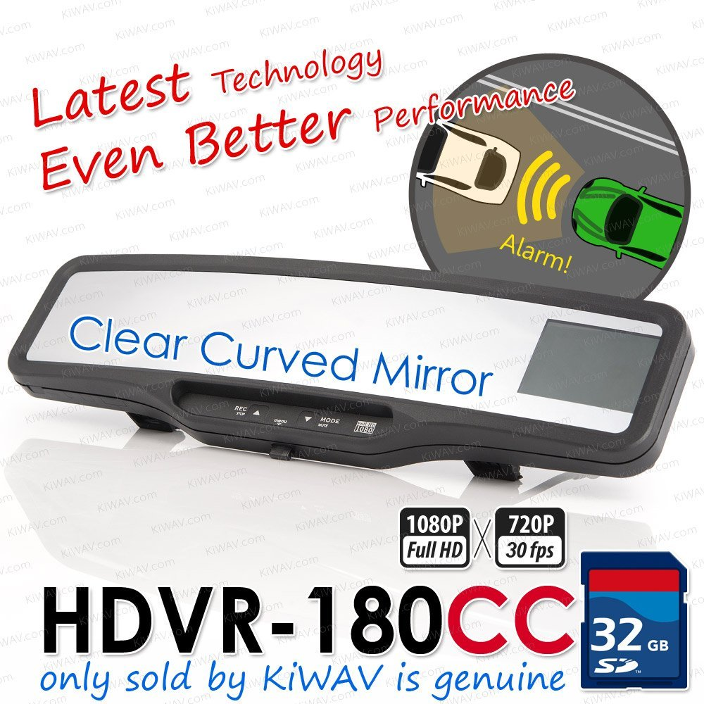 ABEO HDVR-180G3 CAR video Clear Curved mirror Real Full HD Rear View Mirror accident crash camera recorder 32G SD card