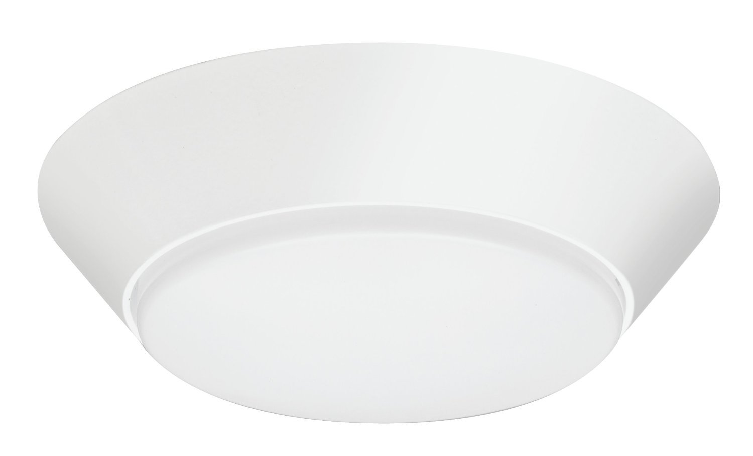 Lithonia Lighting Contractor Select 7 inch Round LED Flush Mount Thin Ceiling Light White 4000K Dimmable