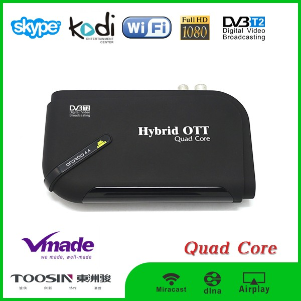 Bluetooth 4.0 H.265 HEVC amlogic s805 android 4.4 quad core dvb t2 tv box