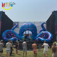 Giant Outdoors stage event Decoration Inflatable DJ octopus Tentacle