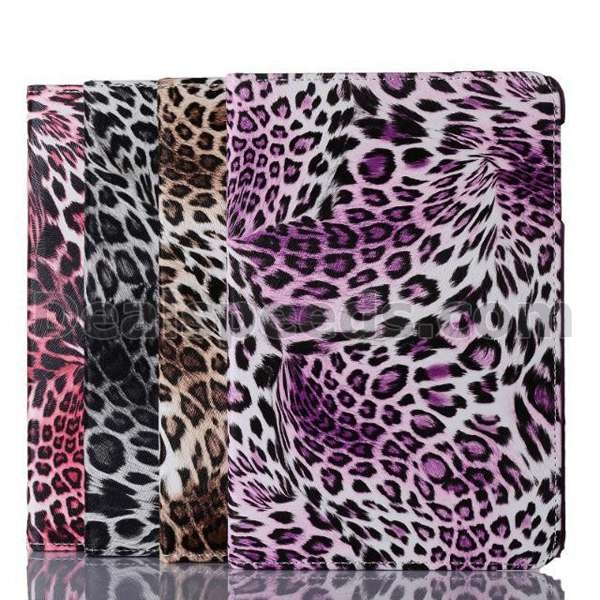 Leopard Flip Leather 360 Rotating Case for iPad 6